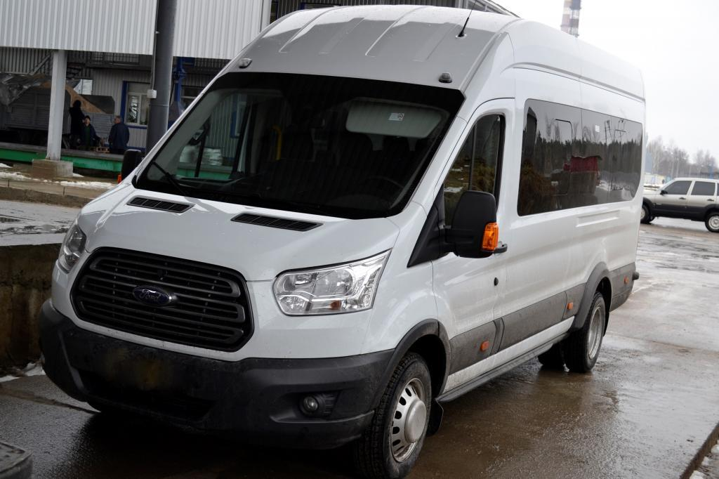 The comfortable minibus to commute between the workers' houses and workplace was purchased