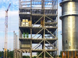 Начало строительства элеватора. Лето 2014